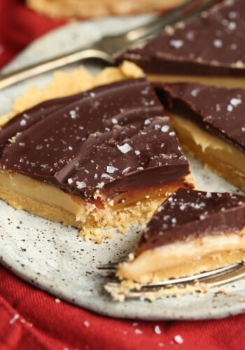 No Bake Twix Pie