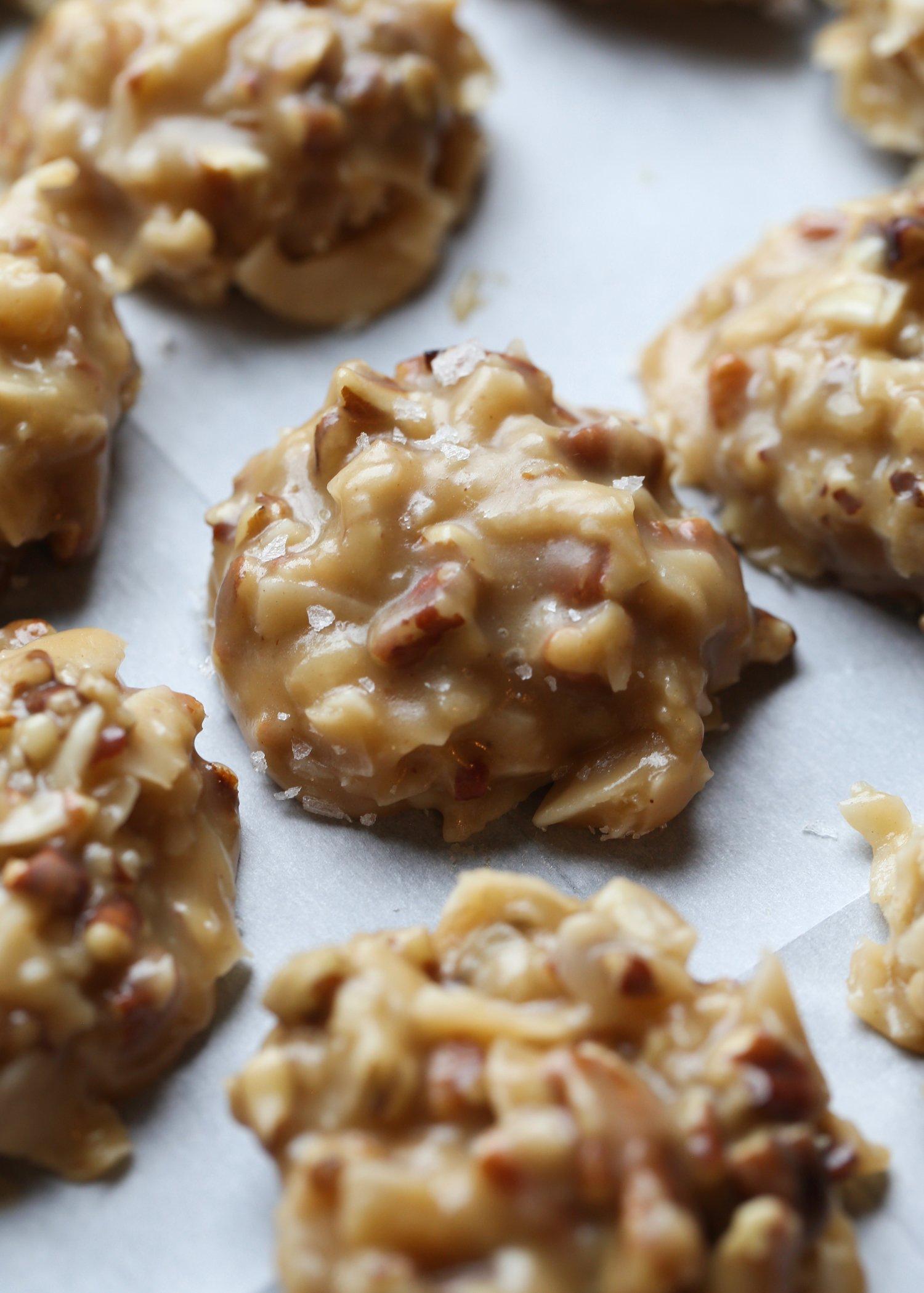 No Bake Coconut Praline Cookies