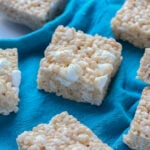 An Easy Rice Krispie Treats Recipe with extra marshmallows!