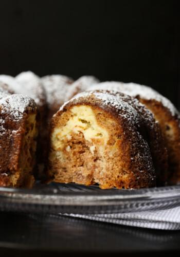 Cream Cheese Swirled Apple Cake