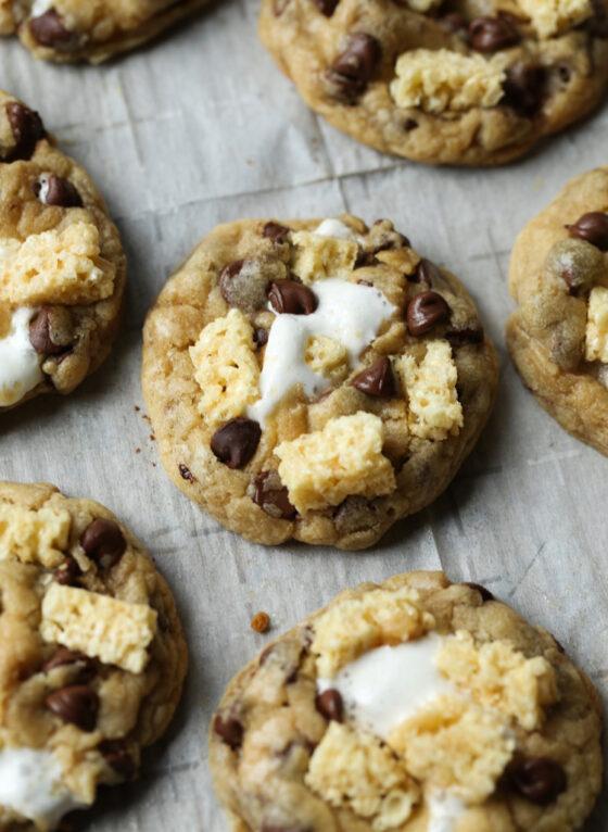 Krispie Treat Chocolate Chip Cookies