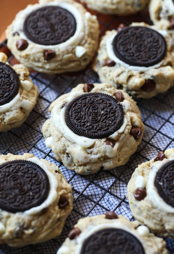 Outrageous Cookies & Cream Cookies | Chocolate Chip + Oreo Cookies!