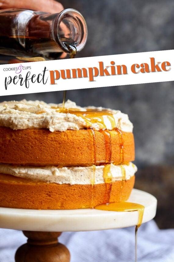 Pumpkin Cake Pinterest Image
