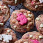 Carnival Cookies are soft sprinkle cookies loaded with chopped circus cookies and white chocolate chips