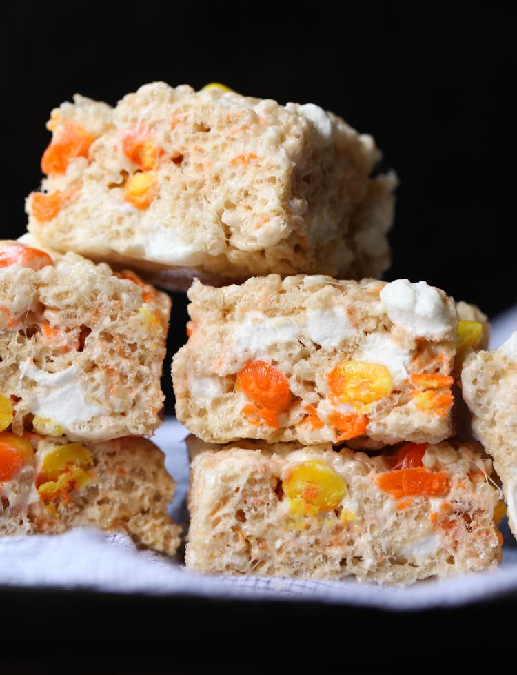 Candy Corn Rice Krispie Treats Recipe is sweet and festive!