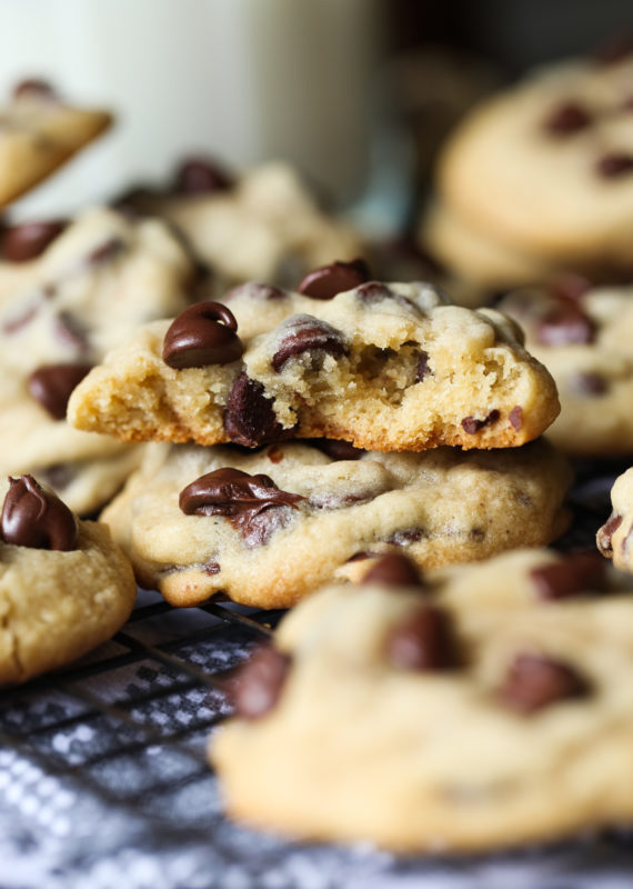 CHEWY Chocolate Chip Cookies are a thick, soft and chewy cookie recipe