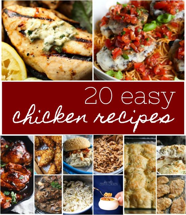 20 Easy Chicken Recipes