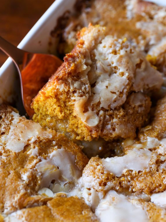 Easy Pumpkin Cake is always a favorite and this Pumpkin Earthquake Cake is THE BEST!