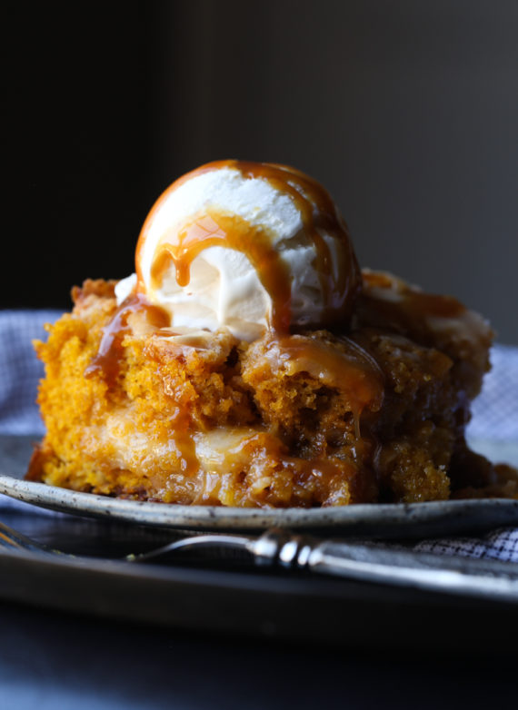 Image of a Pumpkin Earthquake Cake