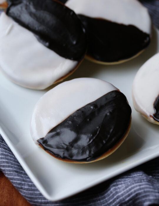 Black and White Cookies are soft cookies, that are a NY classic cookie recipe