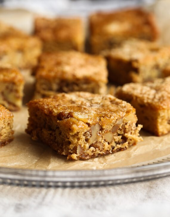 Chewy Noels are a classic brown sugar walnut bar, perfect for your holiday cookie platter!