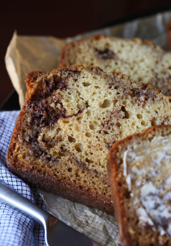 Brown Sugar Cinnamon Swirl Bread is an easy cake recipe that you eat for breakfast!