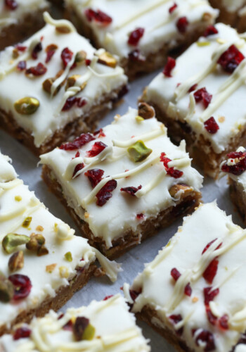 Cranberry Pistachio Bliss Bars