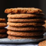 Gingersnaps are the perfect holiday cookie with crispy edges and chewy centers