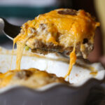 Cheesy Sausage Biscuit and Gravy Bake. A great brunch idea!
