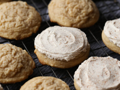 Frosted Egg Nog Cookies are the perfect holiday cookie recipe with creamy egg nog frosting!