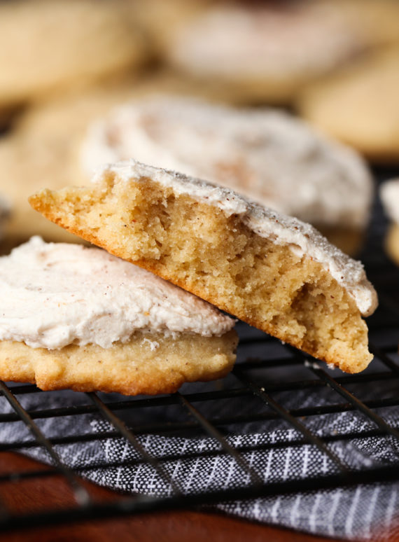 Frosted Egg Nog Cookies are soft and tender cookies topped with creamy egg nog frosting