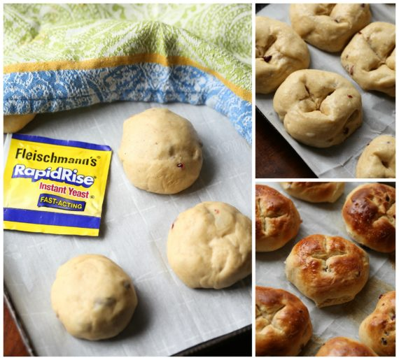 How to make hot cross buns with yeast collage