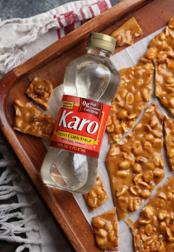 Karo Syrup makes this peanut brittle recipe easy!