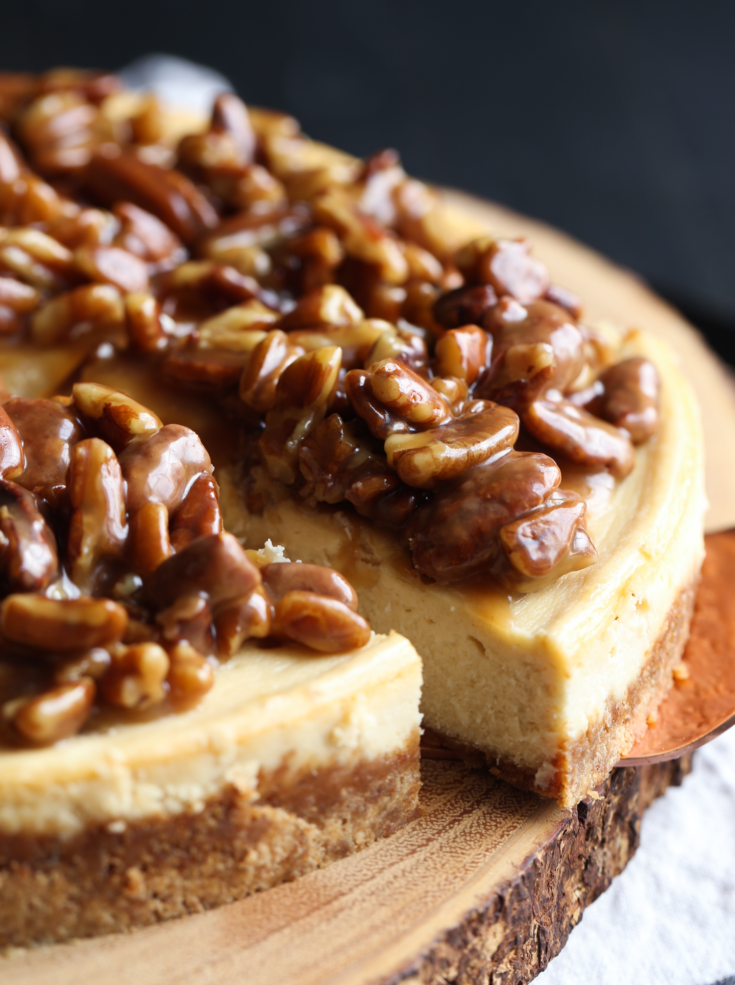Pecan Pie Cheesecake is an easy cheesecake recipe that combines two favorites!