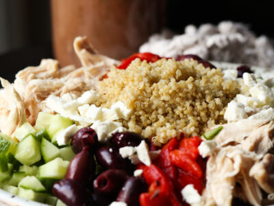 This Greek Quinoa Salad is packed with flavor