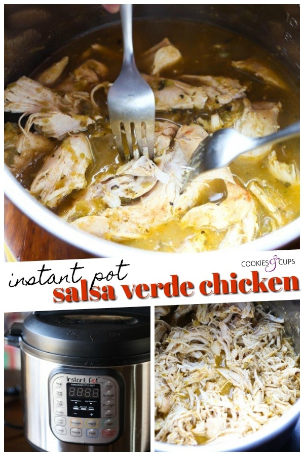 Instant Pot Salsa Verde Chicken Pinterest Image