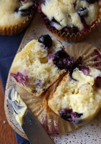 The fluffiest blueberry muffins recipe