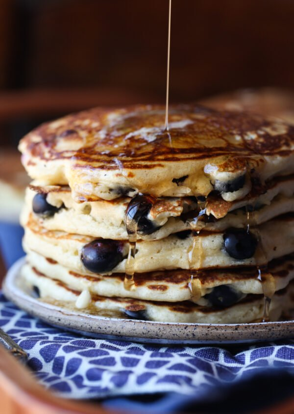 This blueberry pancakes recipe is easy
