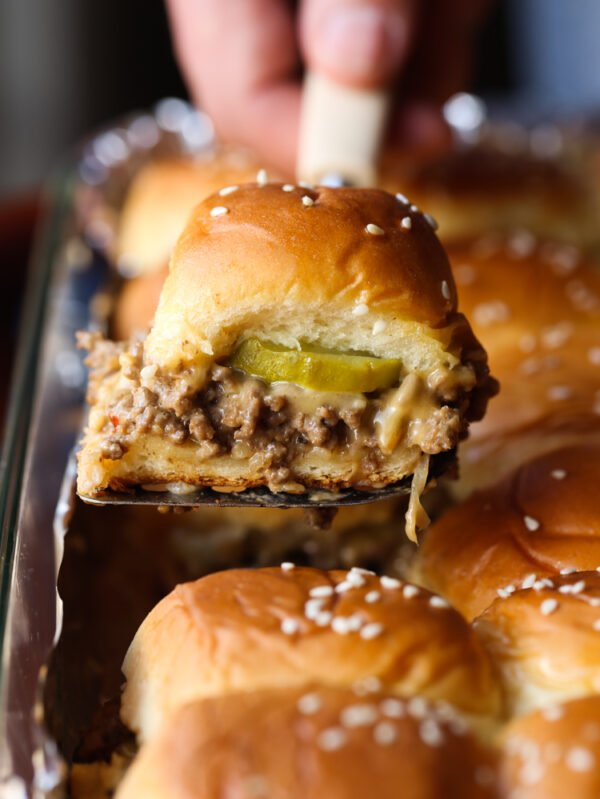 Easy Cheeseburger Sliders recipe is great for parties!