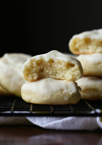 This and Easy Cream Cheese Lemon Cookies are topped with a lemon icing