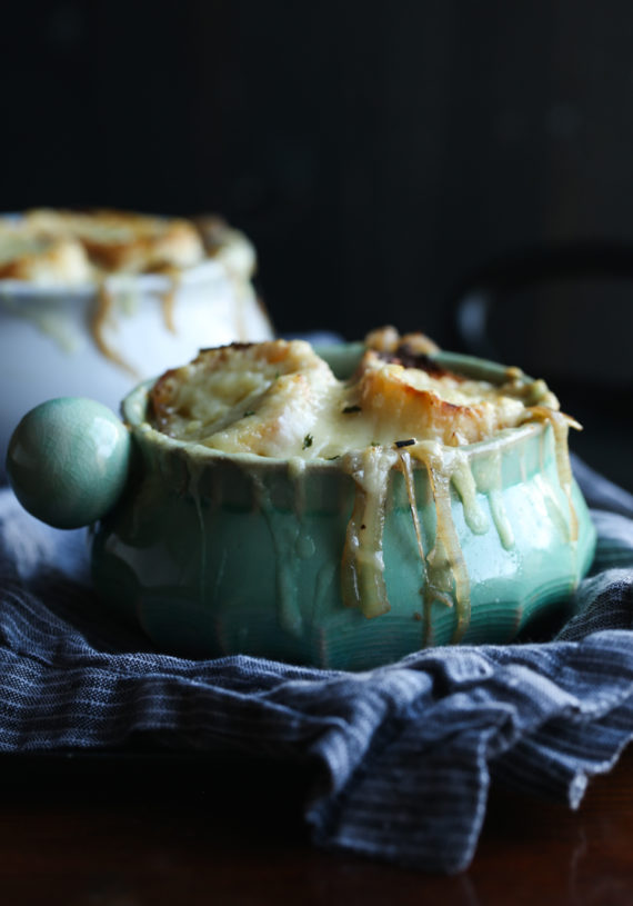 French Onion Soup can be made in the slow cooker or on the stove top