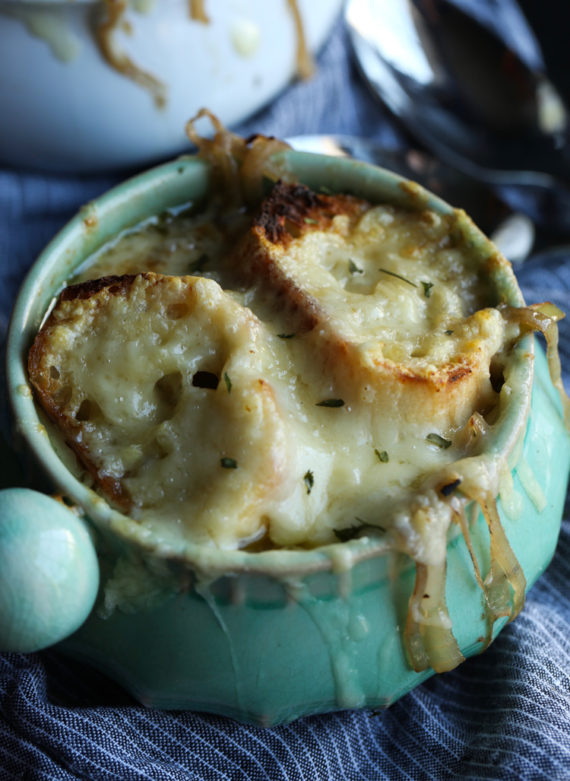 Classic French Onion Soup made in the slow cooker