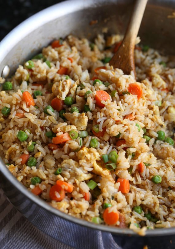 This Easy Fried Rice can be made in 20 minutes or less!
