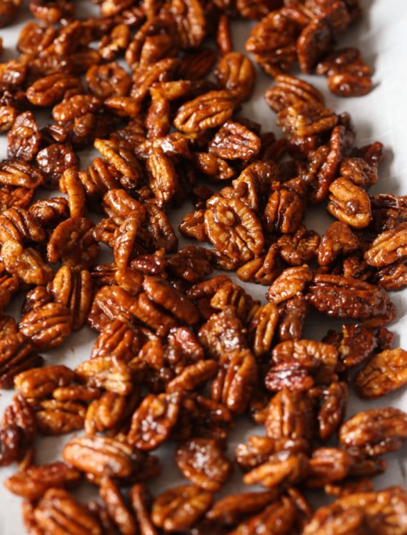 Candied Pecans are an easy sweet and salty recipe