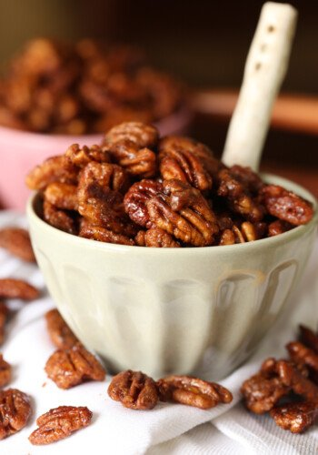 My Candied Pecans recipe are sweet and salty, and are great for snacking or gifting