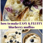 Moist Homemade Blueberry Muffins from scratch