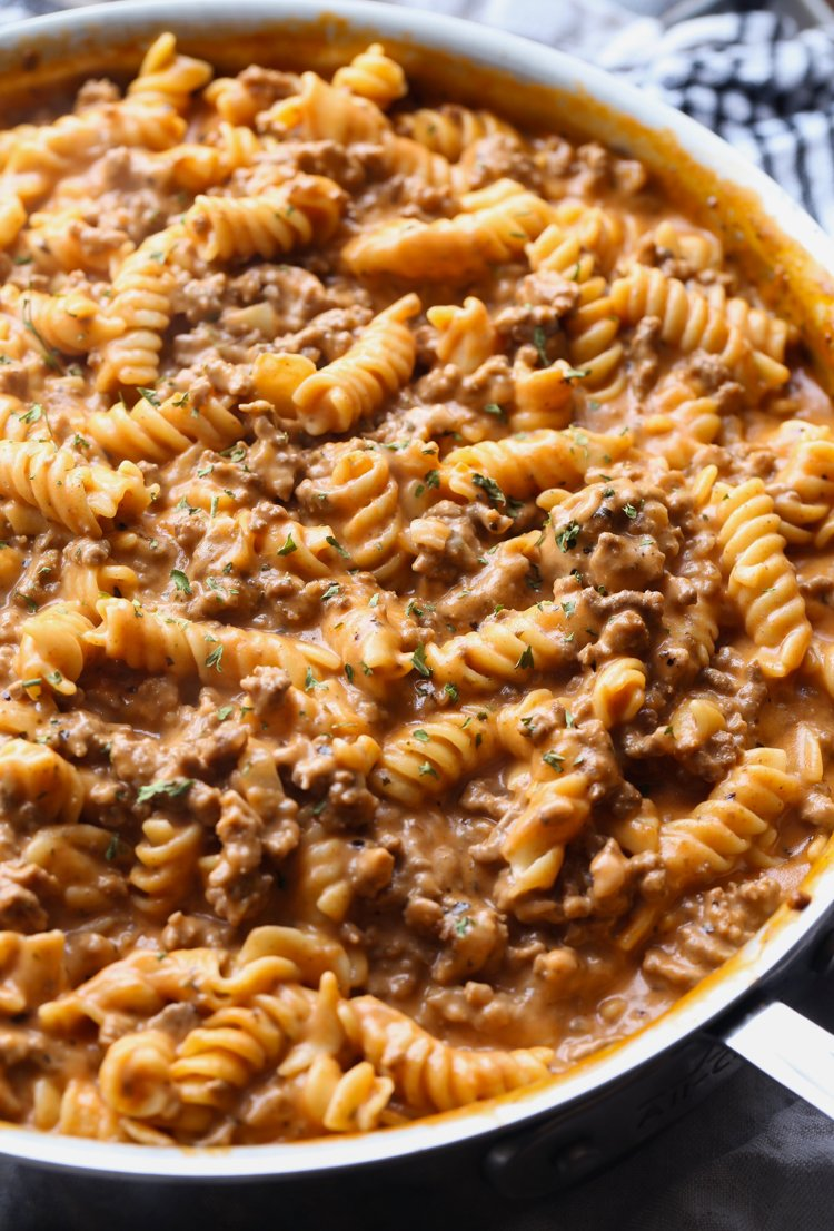 Creamy Beef Pasta Recipe An Easy Weeknight Pasta Recipe