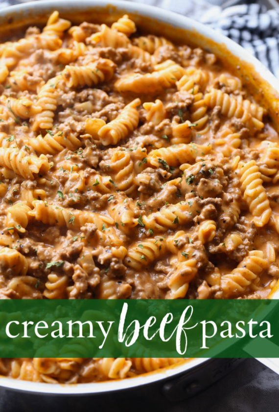 Creamy Beef Pasta is an easy beef pasta dish