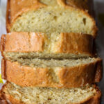 Sliced Lemon Poppy Seed Pound Cake is great for breakfast!