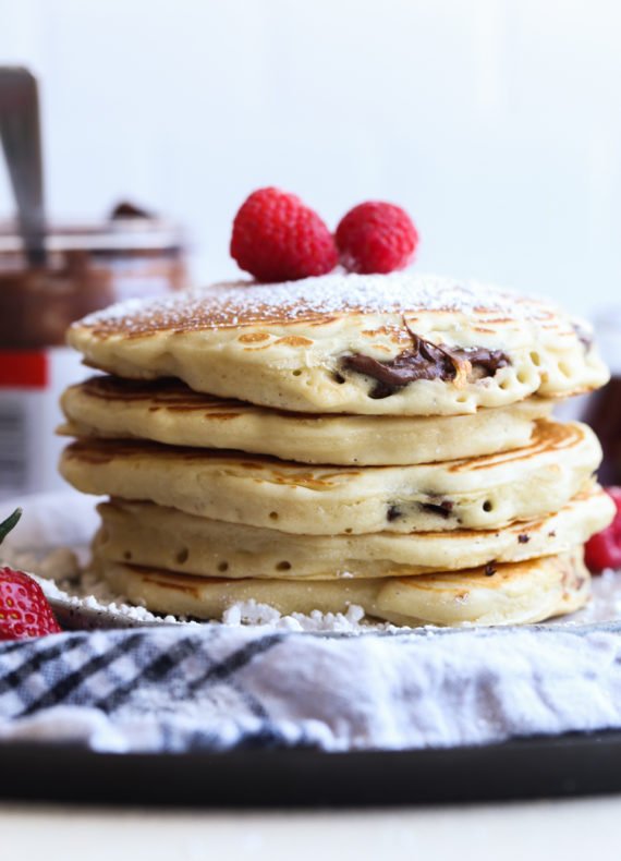 Nutella Stuffed Pancakes are a fluffy and easy pancake recipe