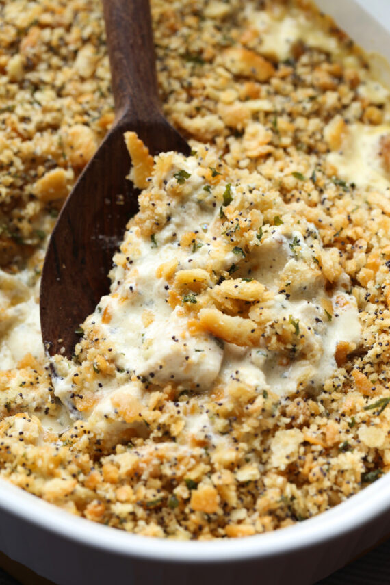 Poppy Seed Chicken is a creamy chicken casserole recipe