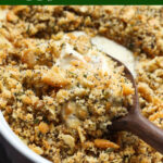 Poppy Seed Chicken is an easy chicken recipe topped with crunchy Ritz breadcrumbs.