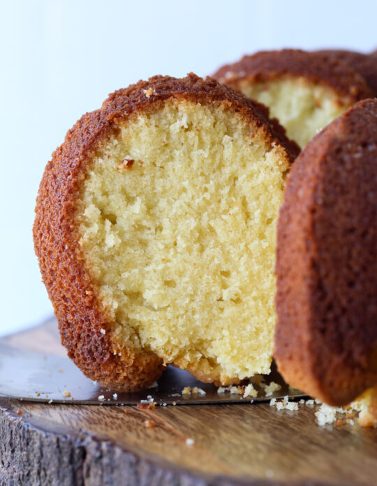 This Easy Pound Cake Recipe is buttery and dense.