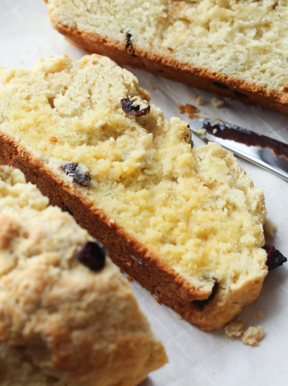 This easy Irish Soda Bread recipe is soft and tender with a crunchy crust!