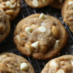 White Chocolate Macadamia Nut Cookies are soft with crispy edges
