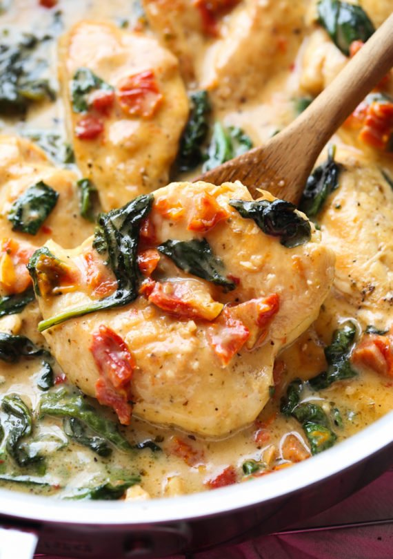My Easy Tuscan Chicken Recipe is a delicious weeknight skillet recipe