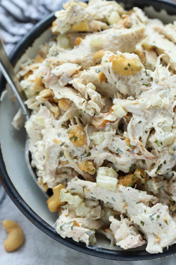 Chicken Salad in a bowl made in 5 minutes