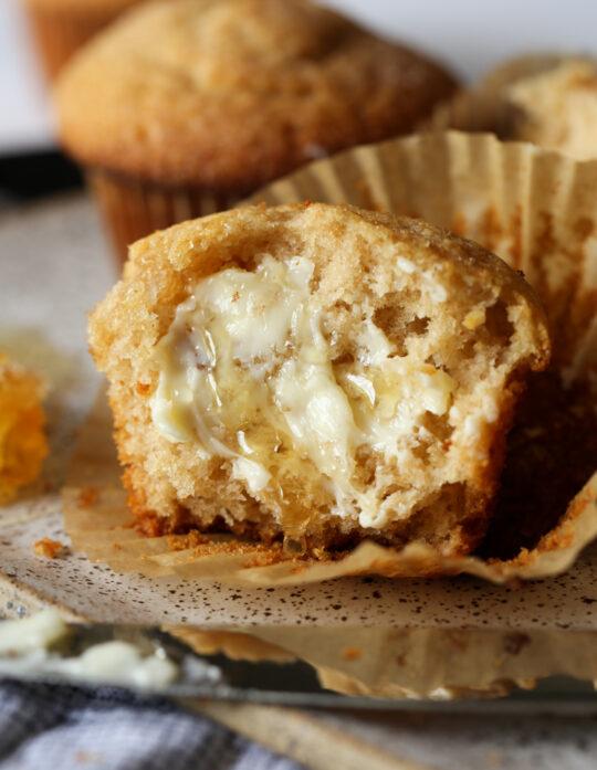 Honey Wheat Muffins are a classic whole wheat muffin recipe