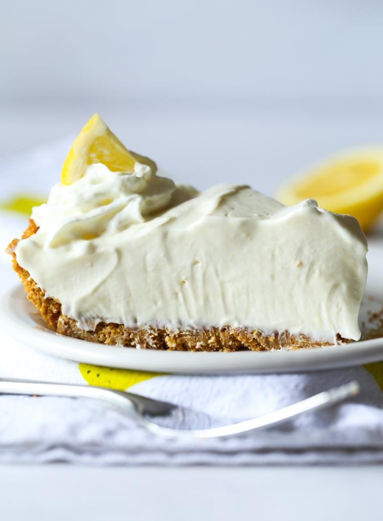 Lemonade Pie is a creamy, tart pie recipe perfect for summer!