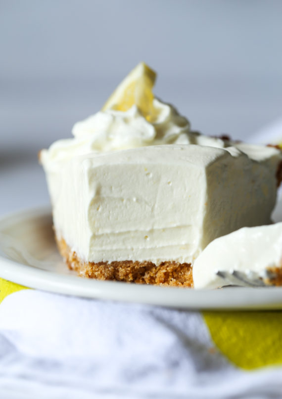 Lemonade Pie is sweet and tart on top pf a crunchy graham cracker crust